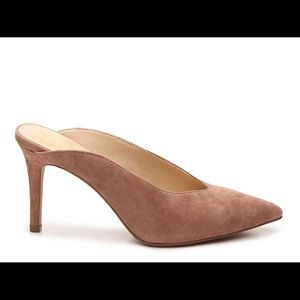 Vince Camuto suede blush slip on heels new 7.5
